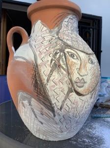 Pot traditionnel à eau revisité , Alger